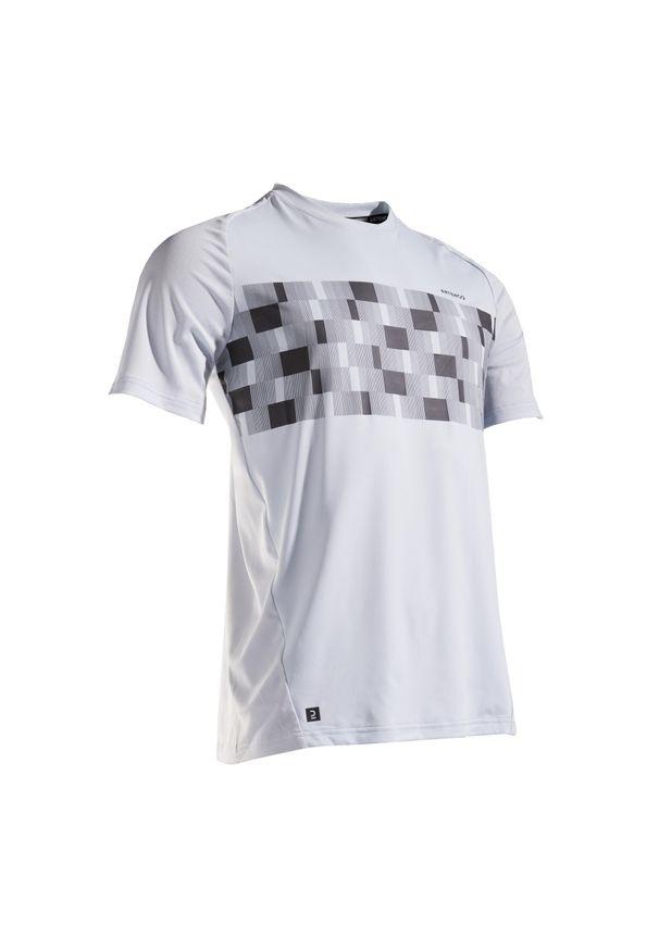 ARTENGO - Koszulka TENIS TTS 500 DRY MĘSKA. Kolor: wielokolorowy, szary, niebieski. Materiał: poliester, elastan, materiał