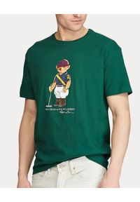 Zielony t-shirt Ralph Lauren polo, na co dzień