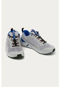 Szare sneakersy columbia z cholewką, na sznurówki
