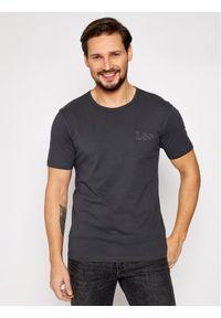 Lee T-Shirt Embro Logo L61ZFEON Szary Regular Fit. Kolor: szary