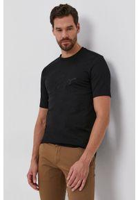 BOSS - Boss - T-shirt bawełniany. Okazja: na co dzień. Kolor: czarny. Materiał: bawełna. Wzór: nadruk. Styl: casual