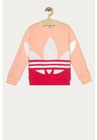 Różowa bluza adidas Originals z aplikacjami, na co dzień