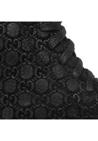 Czarne botki Oleksy na obcasie, na średnim obcasie