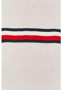 Biały t-shirt Tommy Sport na co dzień, sportowy, raglanowy rękaw