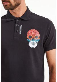 Koszulka polo Just Cavalli sportowa, polo, w jednolite wzory