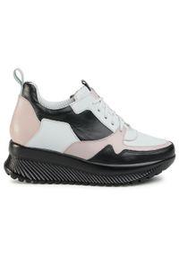 Białe buty sportowe Oleksy z cholewką, w kolorowe wzory, na co dzień