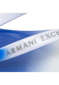 Białe japonki Armani Exchange