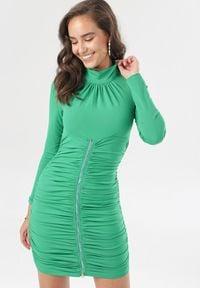 Born2be - Zielona Sukienka Halimara. Kolor: zielony