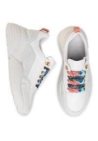 Białe sneakersy Cycleur De Luxe z cholewką, na płaskiej podeszwie
