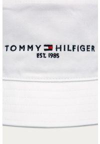 Biały kapelusz TOMMY HILFIGER z aplikacjami