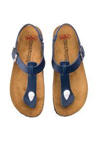 Niebieskie sandały Nik na co dzień, casualowe