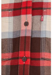 Levi's® - Levi's - Koszula. Okazja: na spotkanie biznesowe. Kolor: czerwony. Materiał: tkanina, jedwab, materiał, lyocell. Długość rękawa: długi rękaw. Długość: długie. Styl: biznesowy