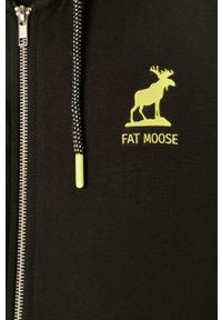 Czarna bluza rozpinana Fat Moose z kapturem, casualowa