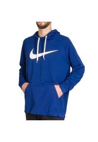 Niebieska bluza Nike raglanowy rękaw, z kapturem
