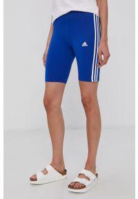 Adidas - adidas - Szorty. Kolor: niebieski. Materiał: dzianina, bawełna