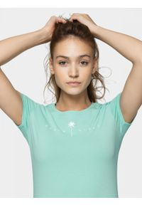 Turkusowy t-shirt outhorn