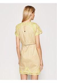 TwinSet Sukienka koktajlowa 211TT2090 Żółty Regular Fit. Kolor: żółty. Styl: wizytowy