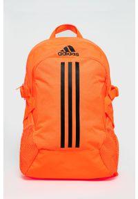 Pomarańczowy plecak adidas Performance z nadrukiem