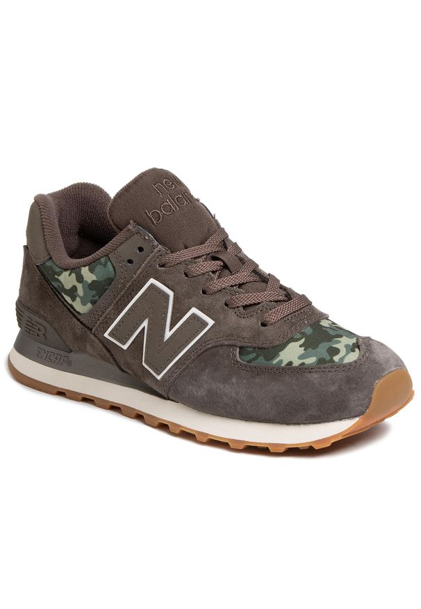 Zielone buty sportowe New Balance na co dzień, z cholewką, New Balance 574
