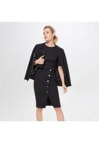 Czarna sukienka Mohito asymetryczna, midi