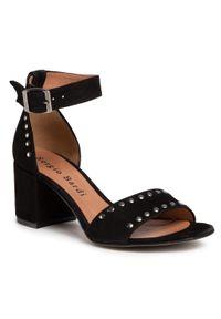 Czarne sandały Sergio Bardi z aplikacjami