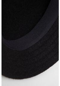 Kangol - Kapelusz wełniany. Kolor: czarny. Materiał: wełna