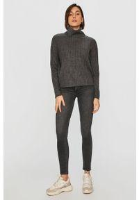 Szary sweter Answear Lab z golfem, wakacyjny, z długim rękawem