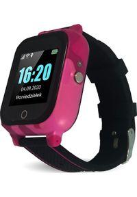Smartwatch CALMEAN Care Czarno-różowy. Rodzaj zegarka: smartwatch. Kolor: wielokolorowy, różowy, czarny