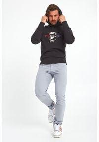 Trussardi Jeans - BLUZA TRUSSARDI. Okazja: na co dzień. Typ kołnierza: kaptur. Wzór: nadruk. Styl: casual