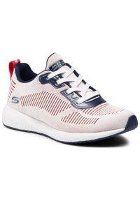 Białe buty do fitnessu skechers z cholewką