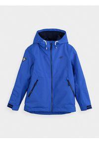 Niebieska kurtka 4f casualowa, z kapturem, na co dzień