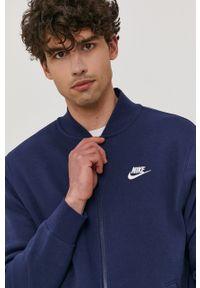 Nike Sportswear - Bluza. Kolor: niebieski. Materiał: dzianina, materiał. Wzór: melanż