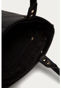 Czarna shopperka Answear Lab gładkie, na ramię, wakacyjna