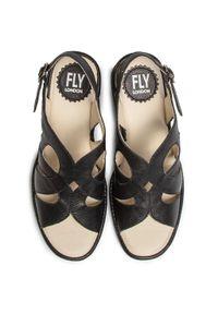 Fly London - Sandały FLY LONDON - Larifly P501180000 Black. Kolor: czarny. Materiał: skóra. Sezon: lato. Obcas: na obcasie. Wysokość obcasa: średni