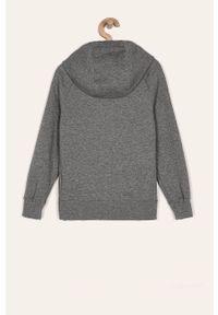 Szara bluza rozpinana Nike Kids z kapturem, casualowa