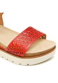 Czerwone sandały Josef Seibel