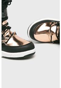 Czarne buty zimowe Moon Boot na zimę, z okrągłym noskiem