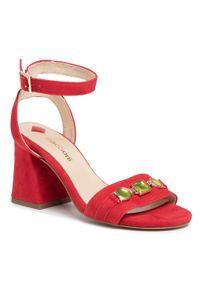 Czerwone sandały Maccioni na co dzień, casualowe, z aplikacjami