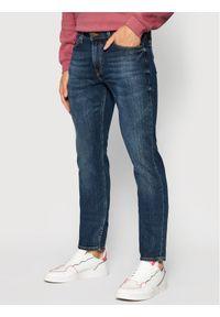 Lee Jeansy Slim Fit Rider L701DXCP Granatowy Slim Fit. Kolor: niebieski. Materiał: jeans