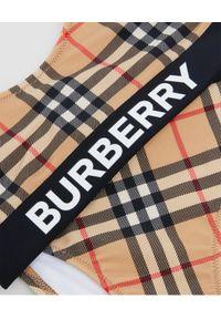 BURBERRY CHILDREN - Dwuczęściowy strój kąpielowy z logo 3-14 lat. Kolor: czarny. Materiał: materiał. Wzór: aplikacja