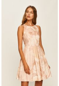 Sukienka MAX&Co. rozkloszowana, na ramiączkach, z okrągłym kołnierzem