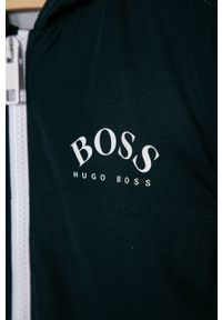 BOSS - Boss - Kurtka dziecięca. Okazja: na co dzień. Typ kołnierza: kaptur. Kolor: niebieski. Materiał: materiał, poliester. Wzór: gładki. Styl: casual #3