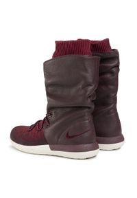 Czerwone buty sportowe Nike Nike Roshe, na co dzień, z cholewką