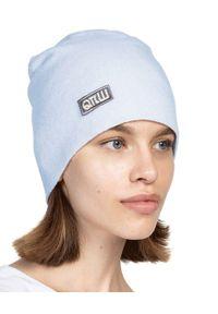 ROBERT KUPISZ - Błękitna czapka FOREVER BEANIE. Kolor: niebieski. Materiał: puch, wełna. Sezon: jesień, zima