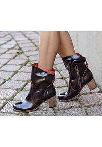 Czerwone botki Zapato klasyczne, z cholewką za kostkę