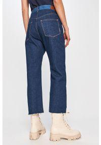 Niebieskie jeansy loose fit Scotch & Soda gładkie