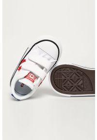 Białe trampki Converse z cholewką, na rzepy, z okrągłym noskiem