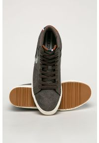 Brązowe sneakersy U.S. Polo Assn na sznurówki, z cholewką, z okrągłym noskiem