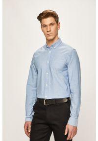 Niebieska koszula Only & Sons button down, casualowa, długa