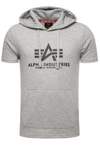 Alpha Industries Bluza Basic T Hooded 126507 Szary Regular Fit. Kolor: szary